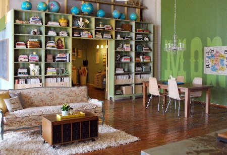 globes in a family room