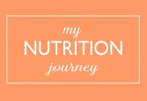 my nutrition journey