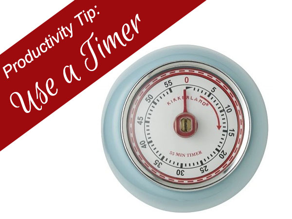use a timer to avoid distractions