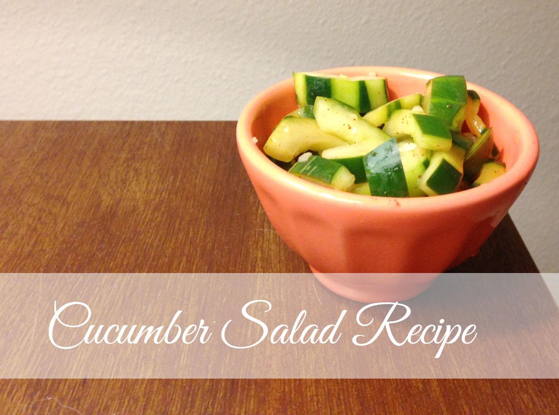 Cucumber Salad Recipe | My Pretty Pennies