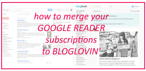Merging Google Reader to Bloglovin