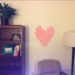 Post it Heart