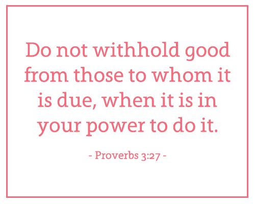 Proverbs 3-27