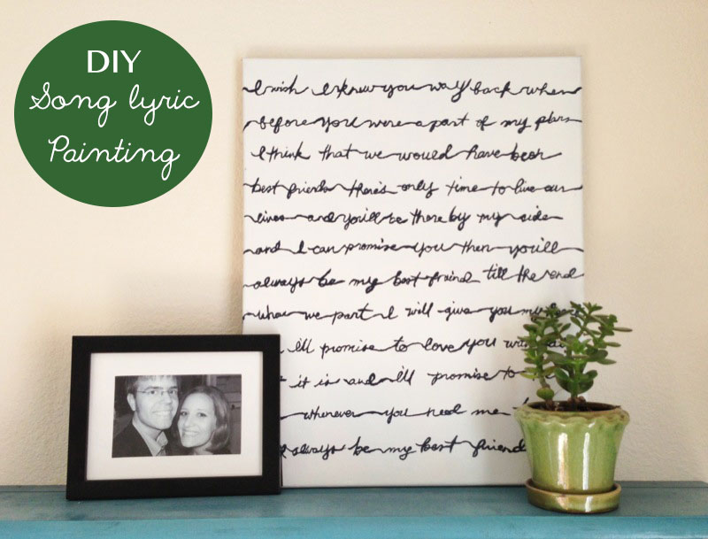 DIY-Song-Lyric-Painting