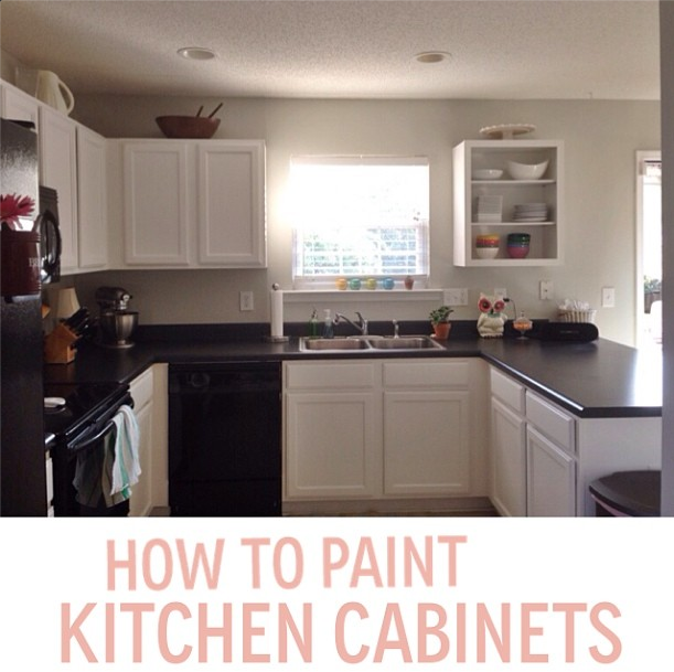 How to Paint Your Kitchen Cabinets (for less than $60)