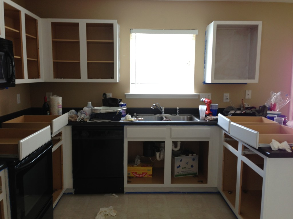 should i paint inside kitchen cabinets repainting kitchen