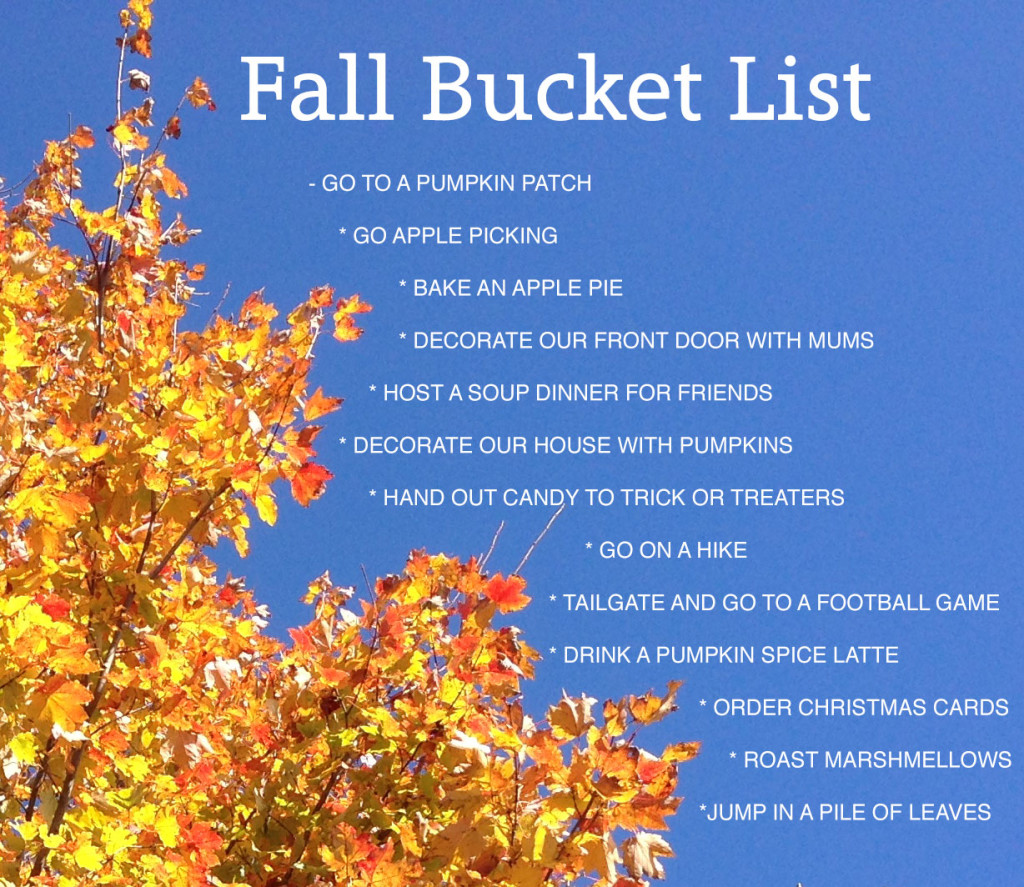Fall Bucket List | My Pretty Pennies