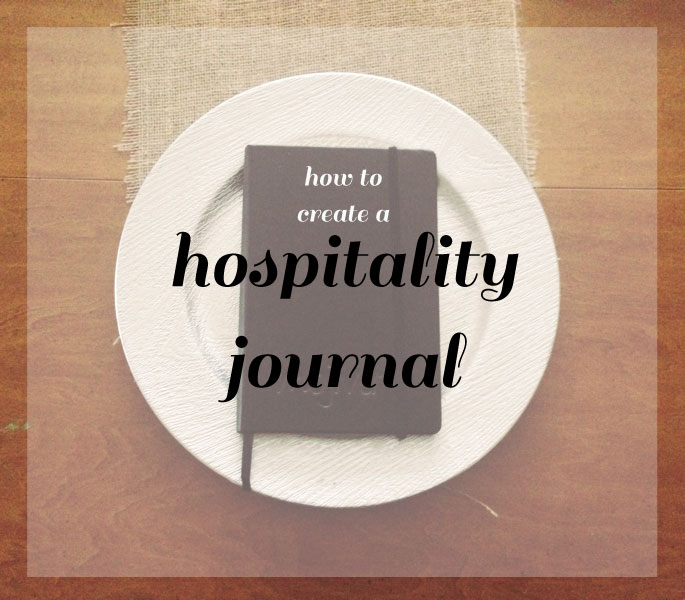 Hospitality journal - to keep a record of all events, parties and people staying over to reference later