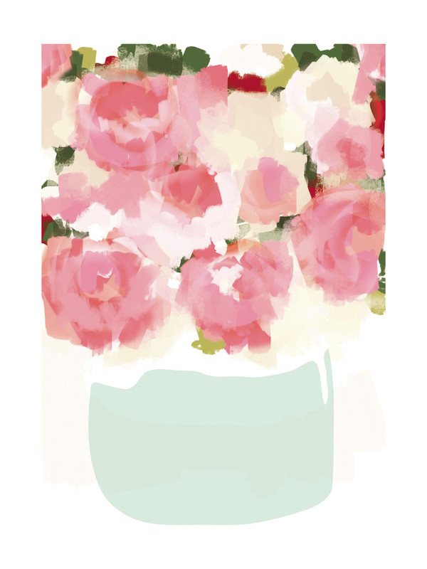 Peonies in Vase by Kelli Hall