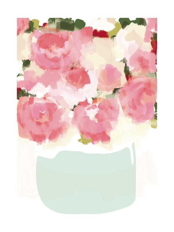 Peonies in Vase by Kelli Hall