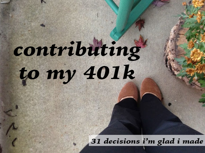 contributing to my 401k