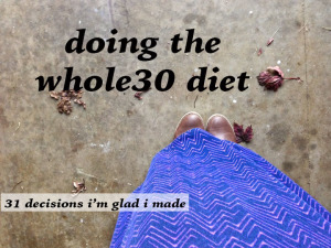 doing the whole30 diet