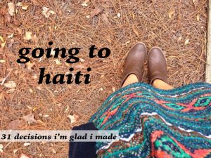 going to haiti