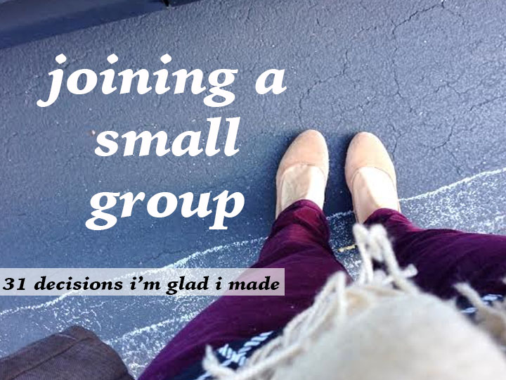 joining a small group
