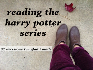 reading the harry potter series