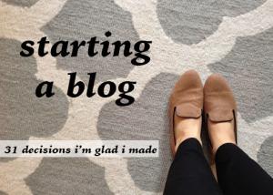 starting a blog