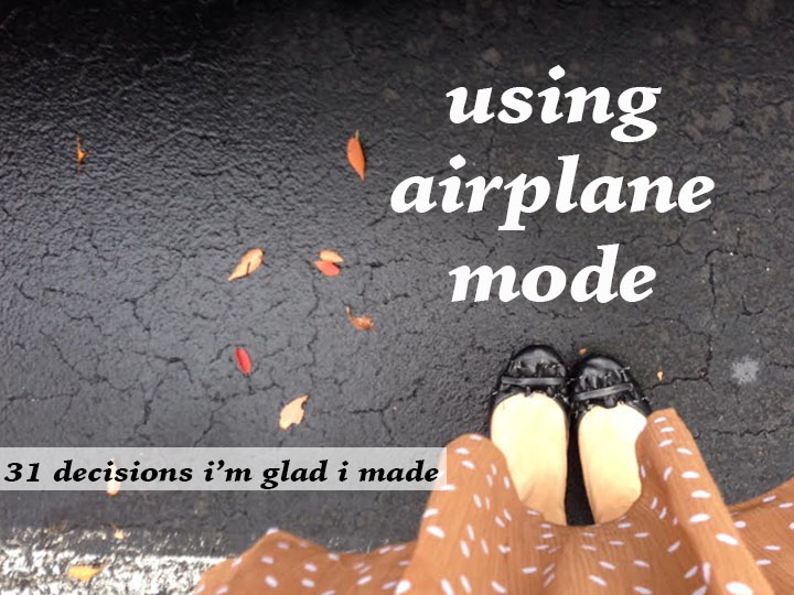using airplane mode