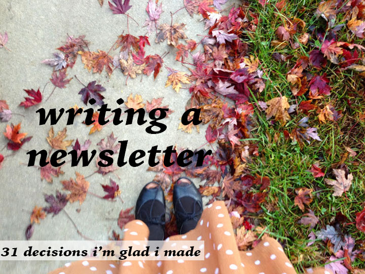 writing a newsletter