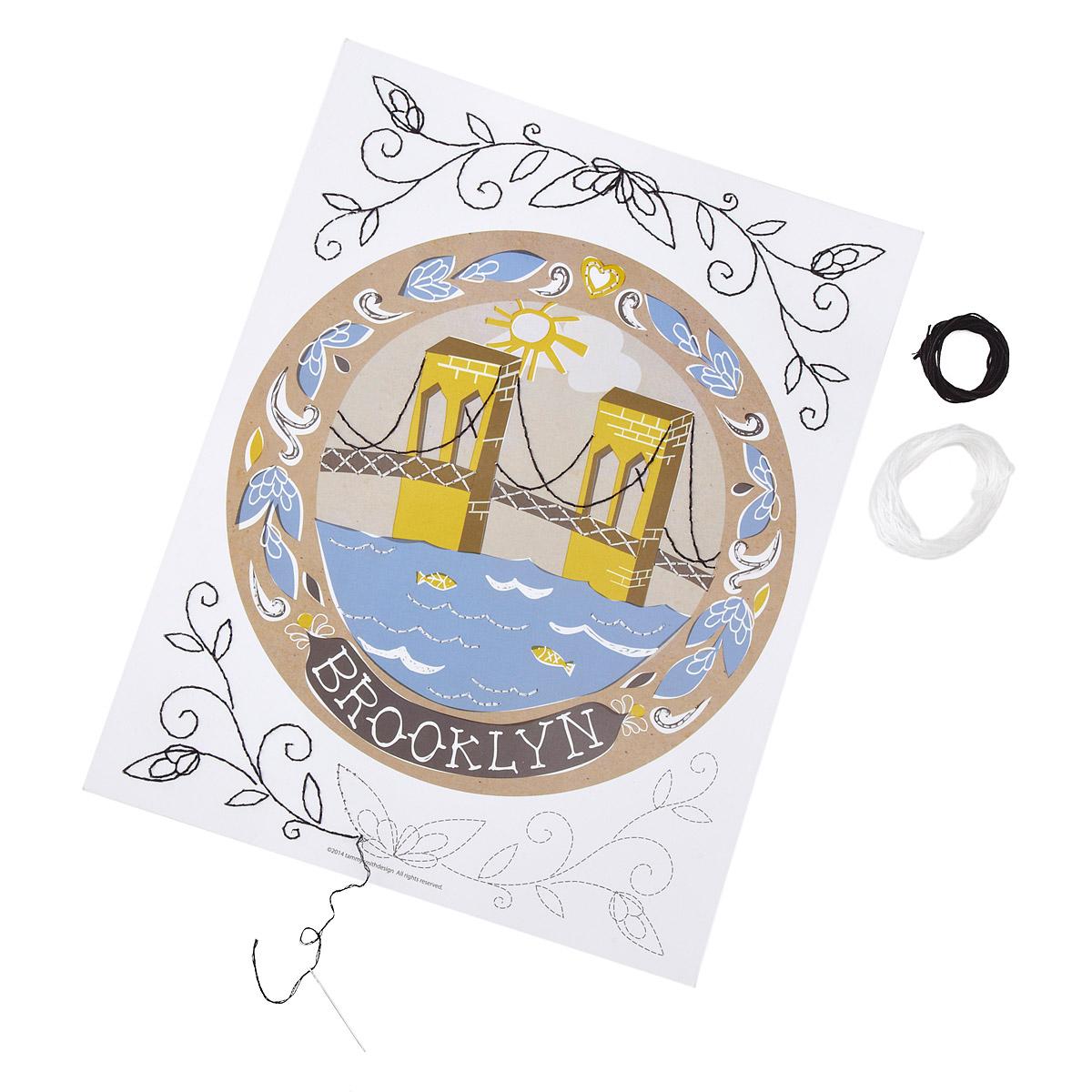 Brooklyn embroidery