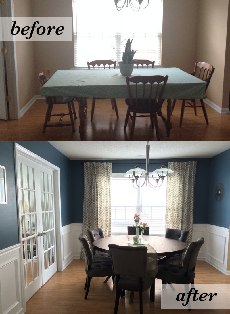 Dining Room Before Amp After