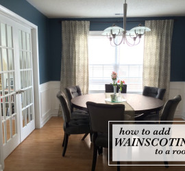 how to add wainscoting to a room