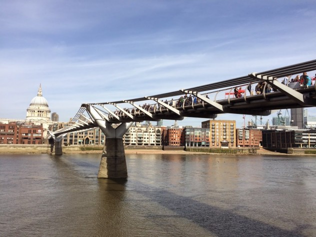 st. paul's cathedral and the millenium bridge