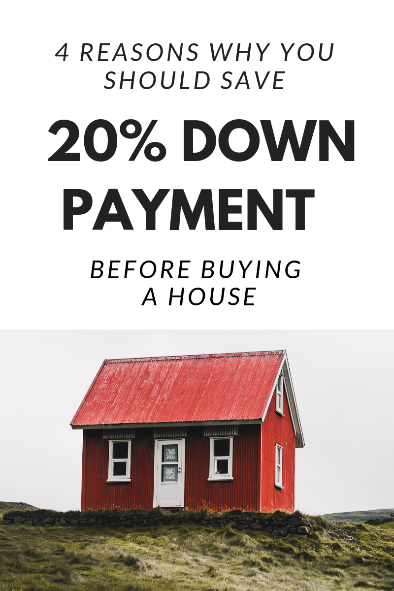 4 Reasons to Save 20% Down Payment Before Buying a House. Why we are waiting and saving for a 20% down payment before jumping into home ownership.