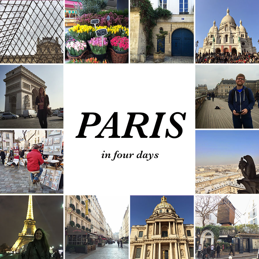 What to do in Paris in Four Days -- all of the shopping, landmarks, tours and museums to pack in to a short trip to Paris.