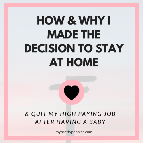 How and why I made the decision to stay at home