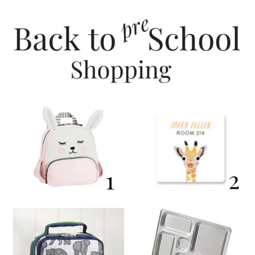 back to preschool shopping graphic