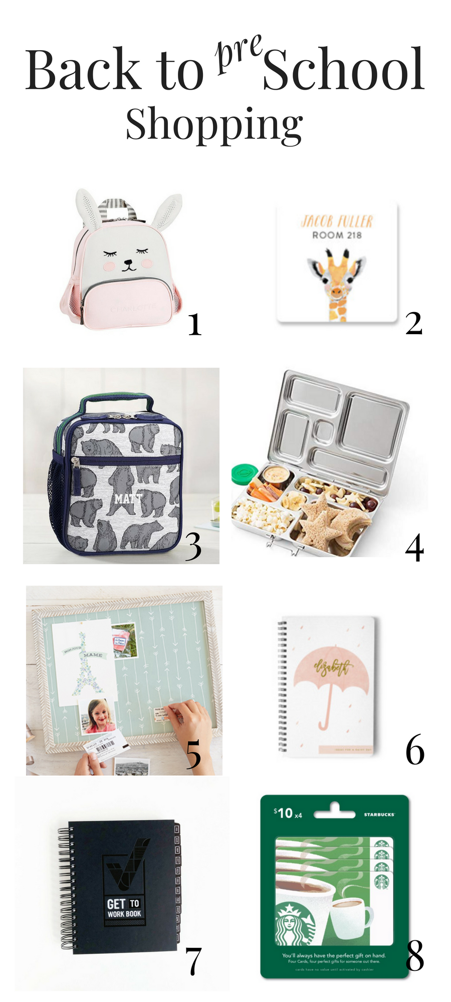 Back to School Shopping for Preschoolers - My Pretty Pennies