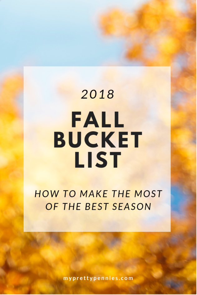 Fall Bucket List -- how to make the most of the best season